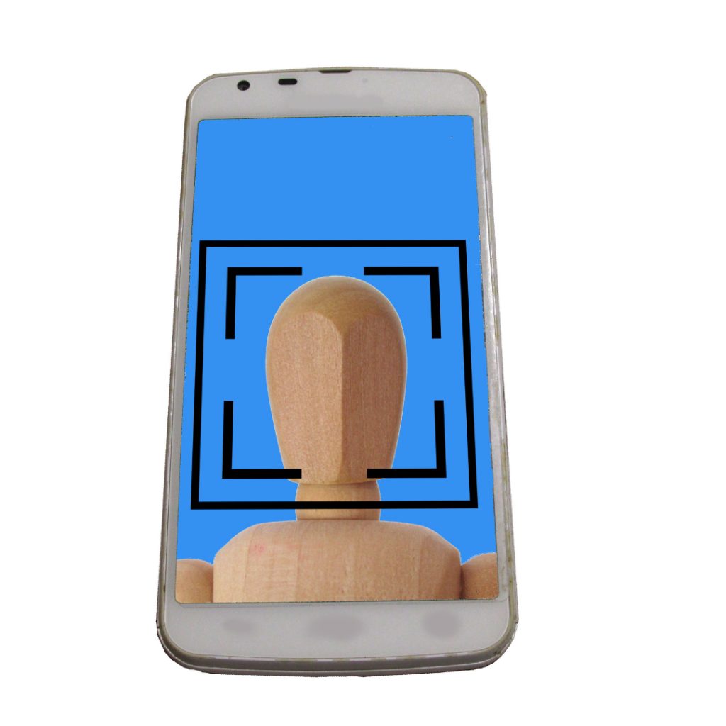 Face recognition of a mobile